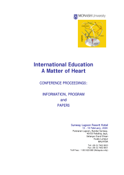 International Education, A Matter of Heart