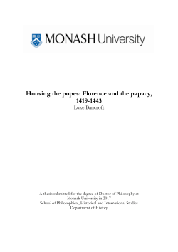 Housing the popes: Florence and the papacy, 1419-1443