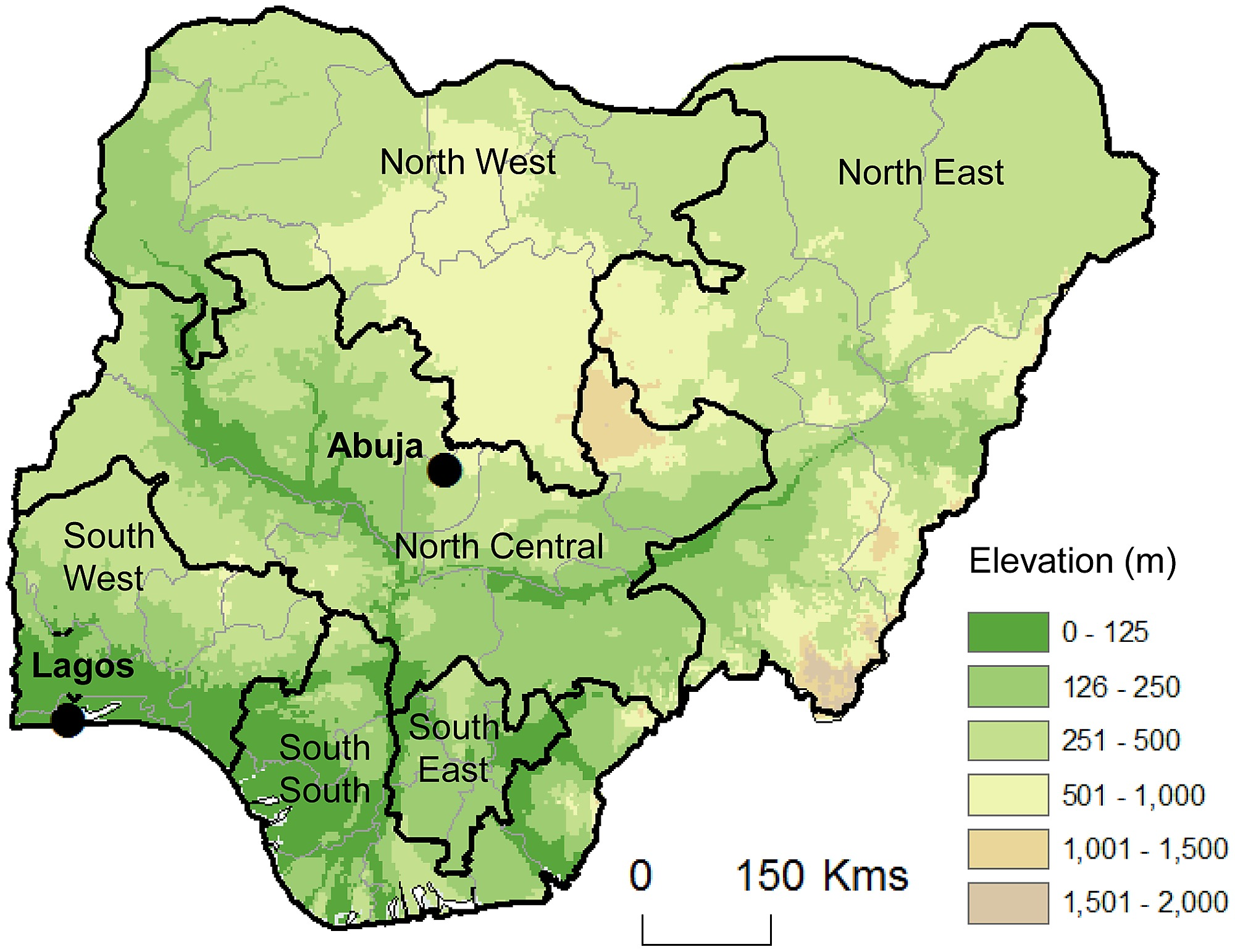 Map Of Nigeria And Its Geopolitical Zones - Map of nigeria