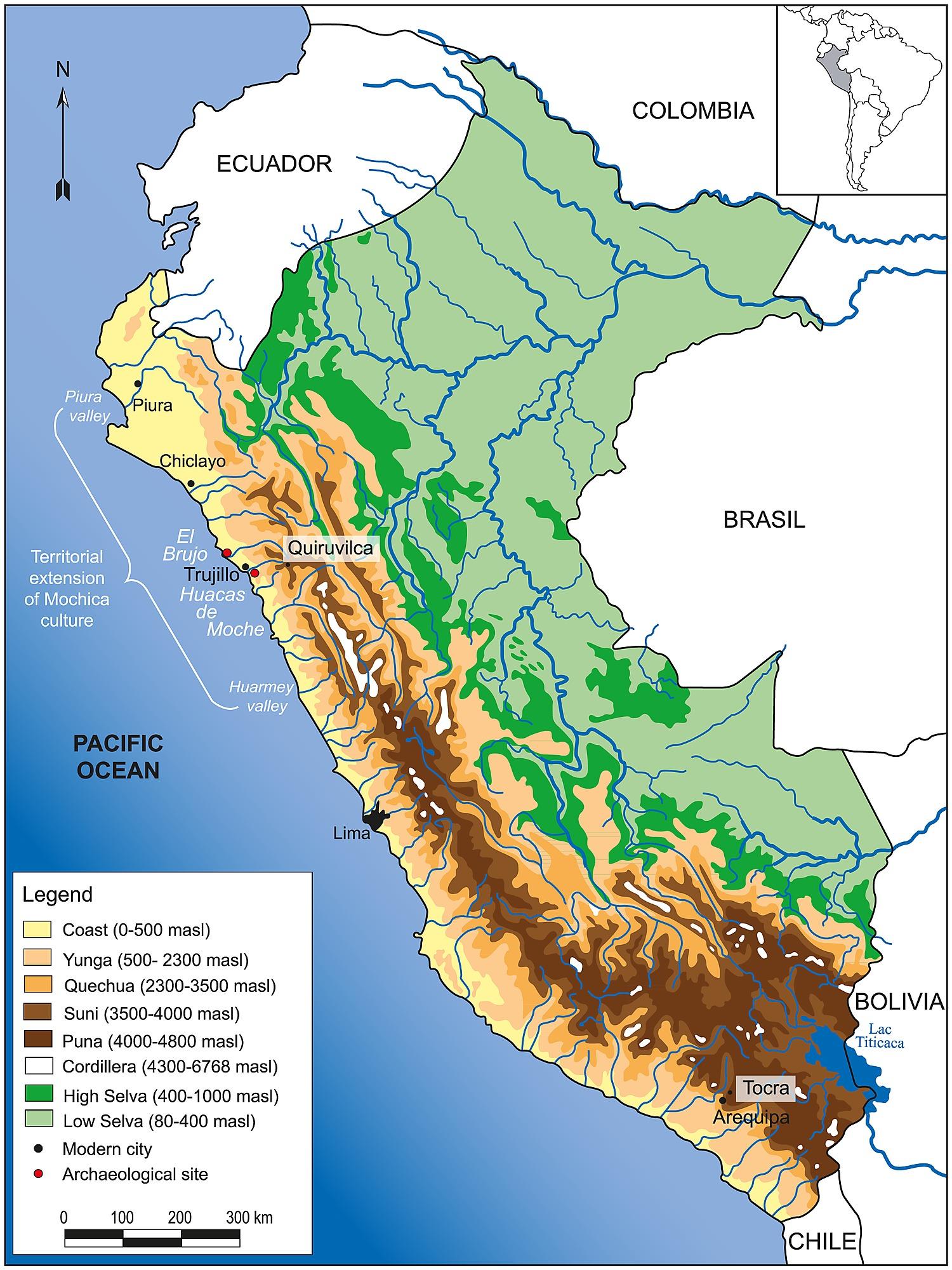 Peru Topographic Map Topographic Map - Perus map