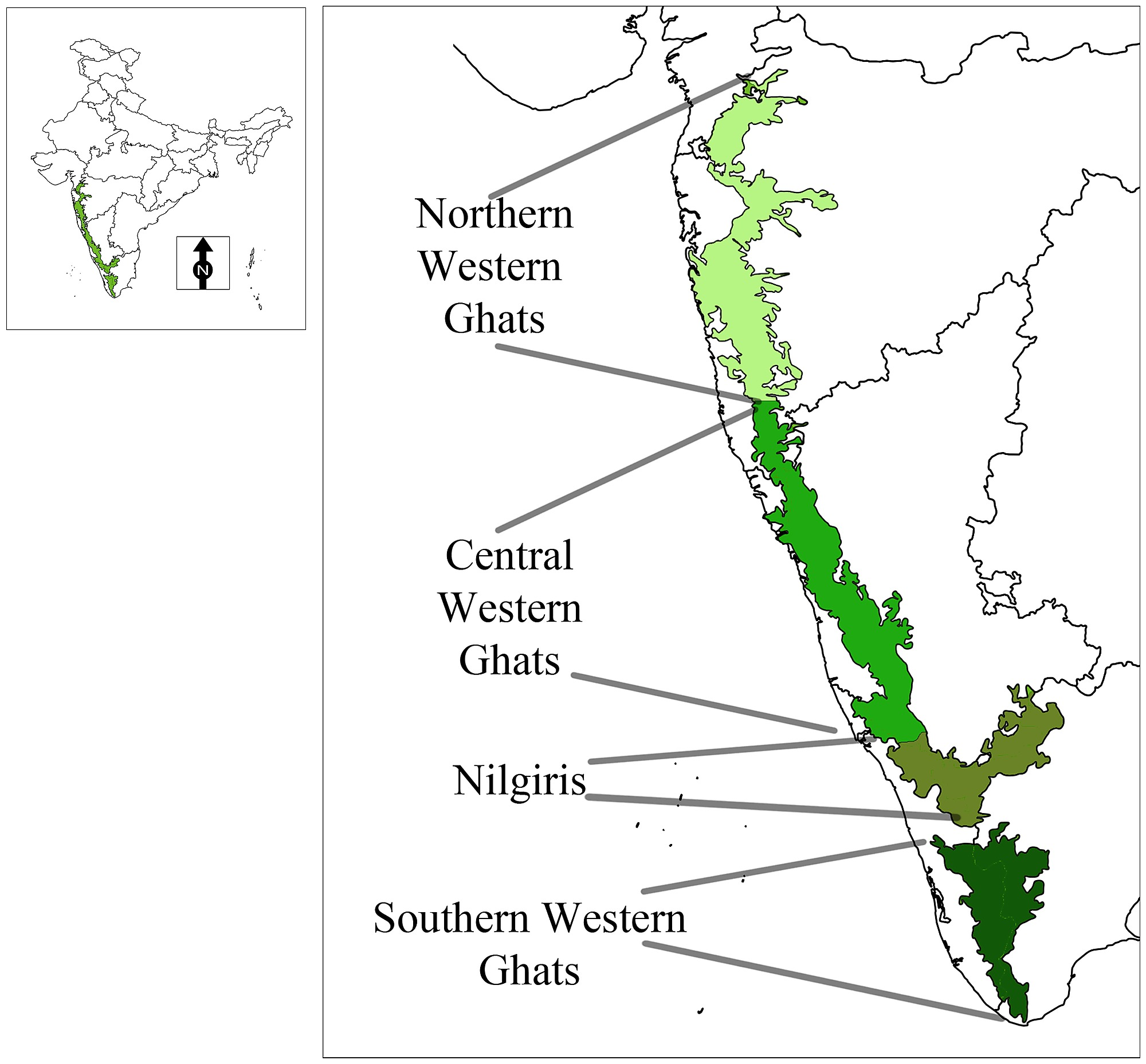 Western Ghats On Map Deccan Plateau – sub...