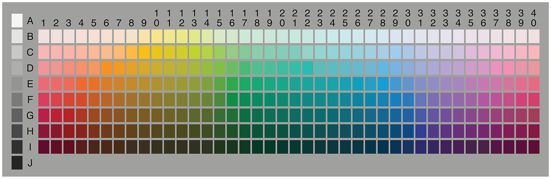 Munsell color chart munsell soil color chart gilson company inc hd image of the munsell color chart as used by the world color survey munsell soil color charts nvjuhfo Gallery