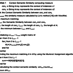 Context Semantic Similarity calculation based on Munkres