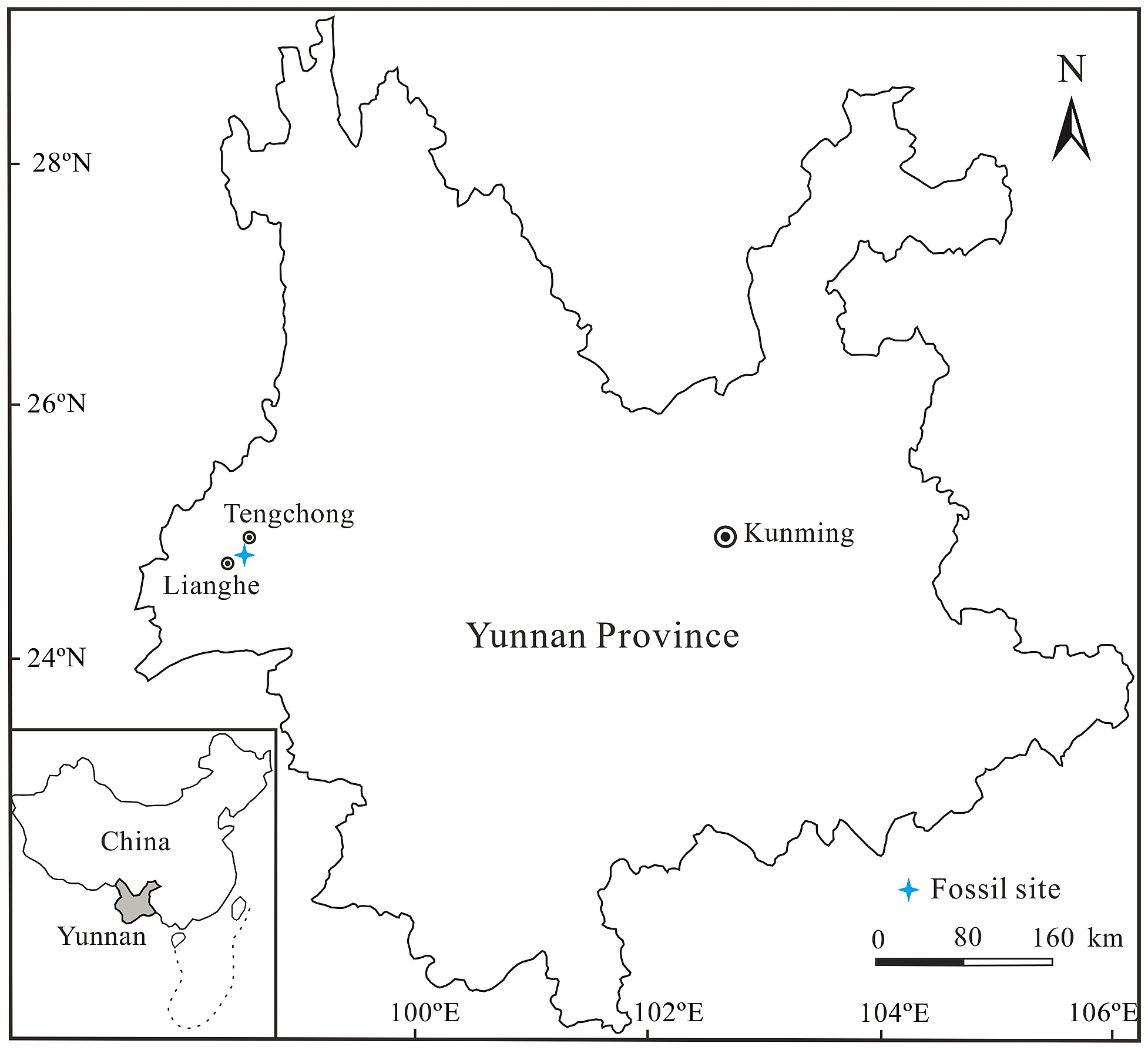 Simplified Geological Map Of The Fossil Site In Yunnan Province
