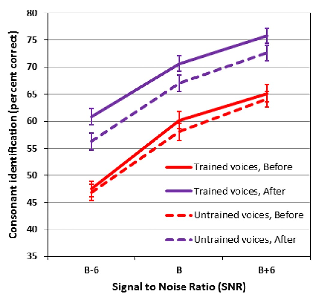 speech perception in older hearing impaired listeners benefits of