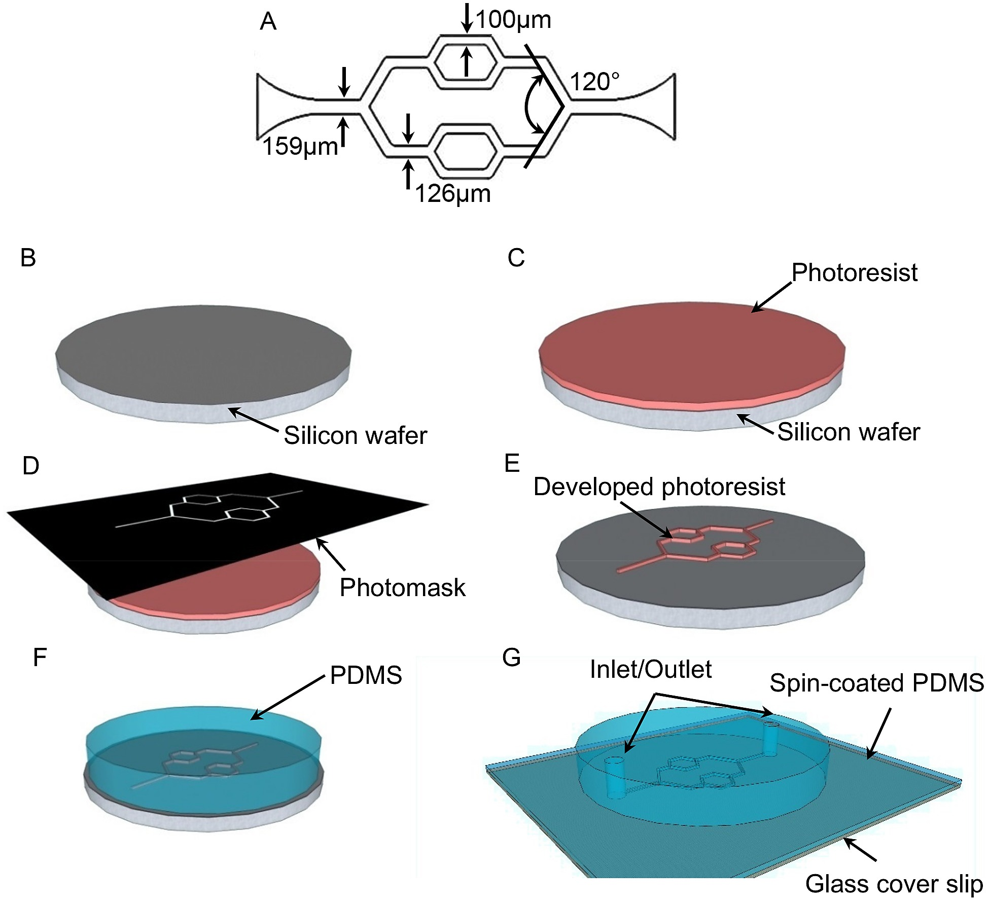 The Schematic Design And Fabrication Procedures For Microfluidic Diagram Of Shield Volcano Microchannel Network