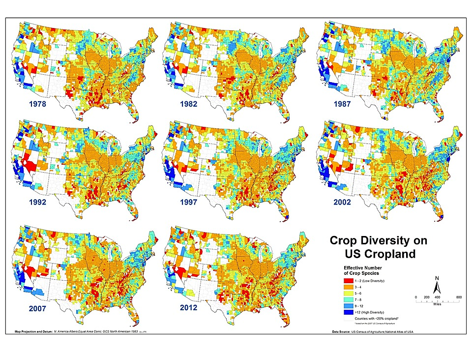 Crop Species Diversity Changes in the United States: 1978–2012
