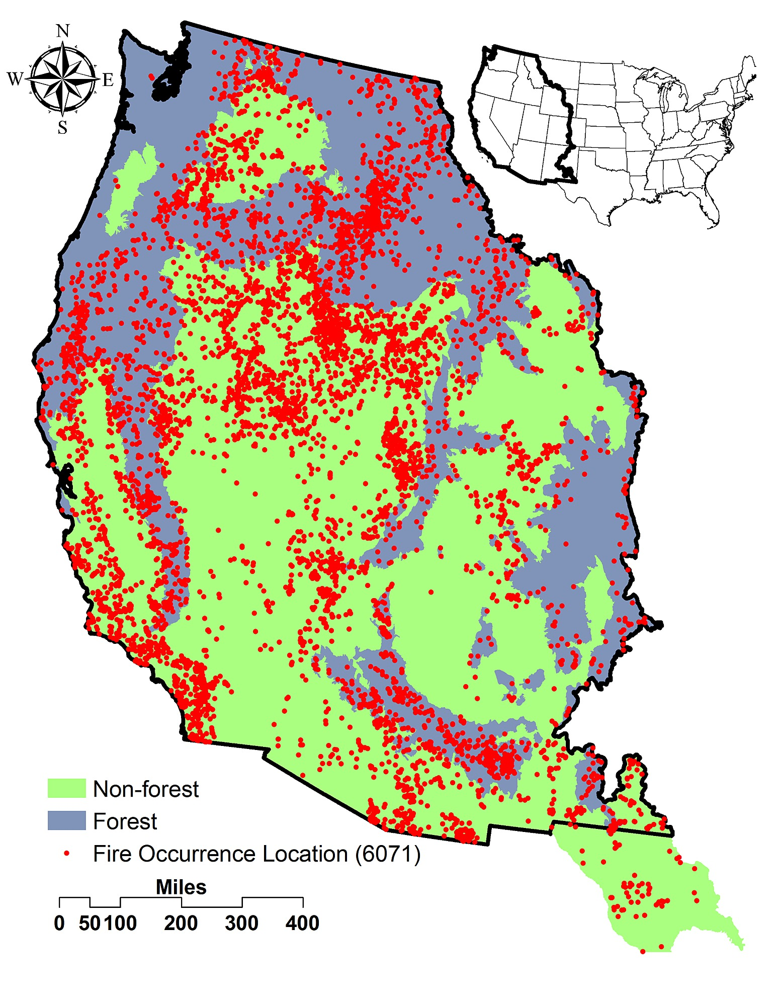 Climatic And Landscape Influences On Fire Regimes From To - Fire regime map us west coast