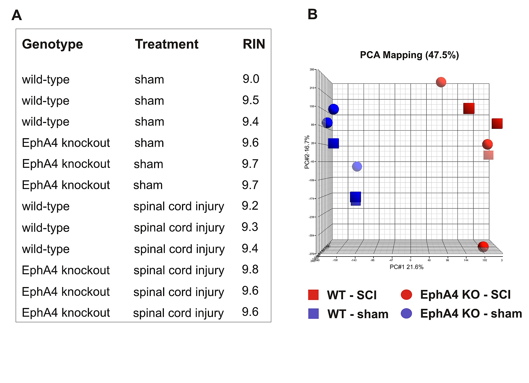 Differential Gene Expression in the EphA4 Knockout Spinal Cord and ...