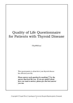 Thyprous Questionnaire