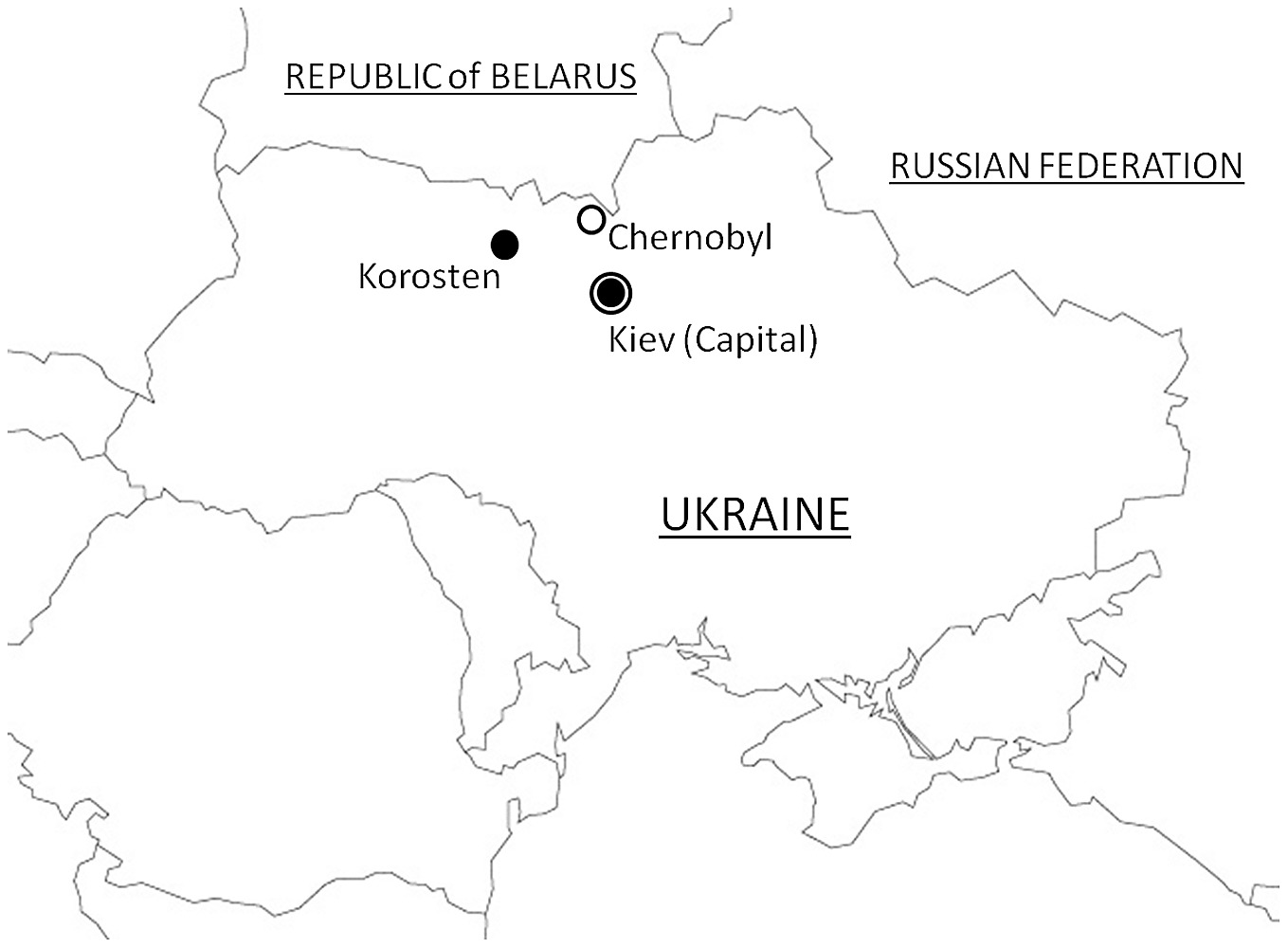 Location of korosten ukraine relative to the chernobyl nuclear location of korosten ukraine relative to the chernobyl nuclear power plant cnpp ccuart Images