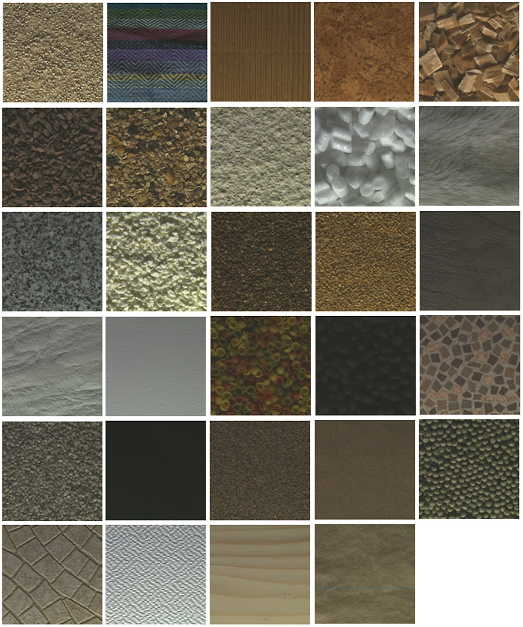 One Example From Each Category In The Outex Texture Database
