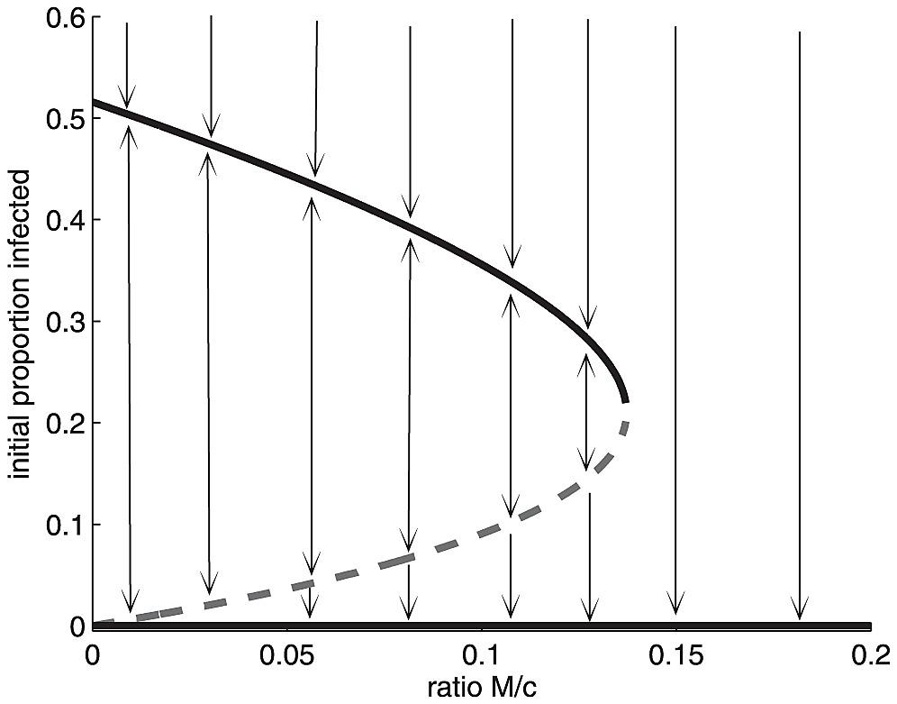 Bifurcation Diagram For The Singular Solution Eq 16
