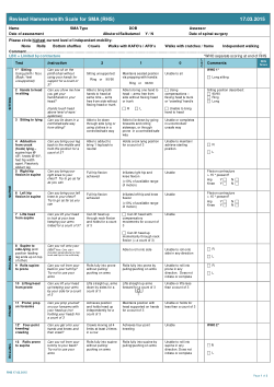 Revised Hammersmith Scale for spinal muscular atrophy: A SMA