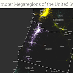 United States Commutes And Megaregions Data For GIS - The megaregion map of the us dartmouth