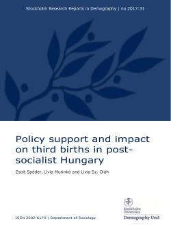 Policy support and impact on third births in post-socialist