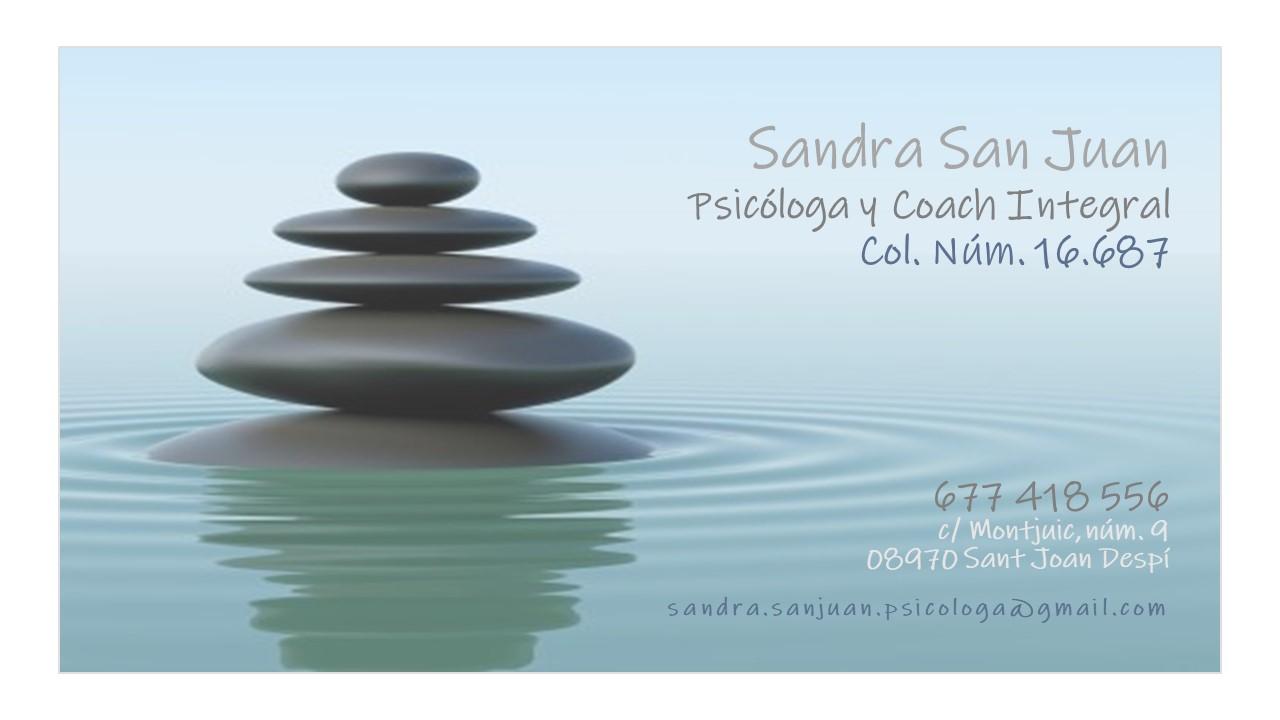 consulta Sandra San Juan - Psicóloga y Coach Integral