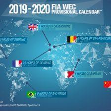 Svelato il calendario WEC 2019/2020