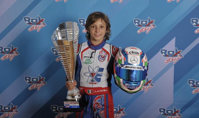 Antonelli in OKJ con Rosberg Racing