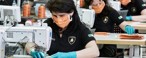 Lamborghini produce mascherine e visiere mediche