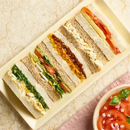 Sandwiches platters morrisons food to order meat free sandwich platter altavistaventures Image collections