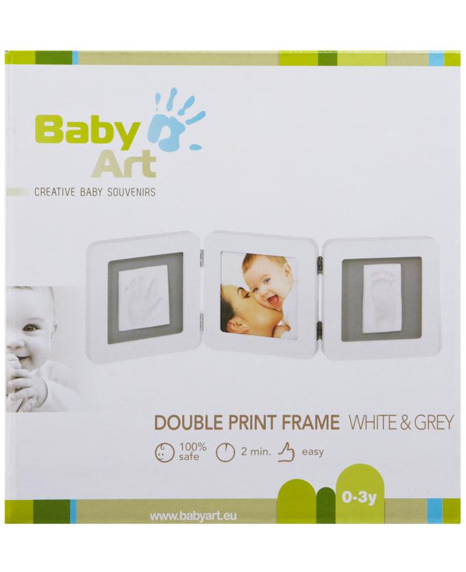Foto Cornice doppia bianca e grigia Baby Art