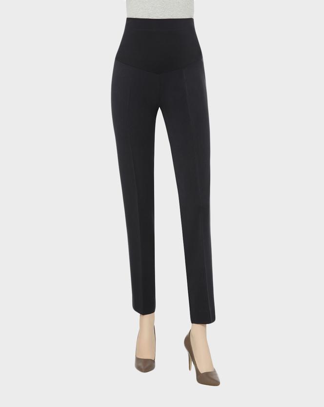 Pantalone gabardine stretch con piega