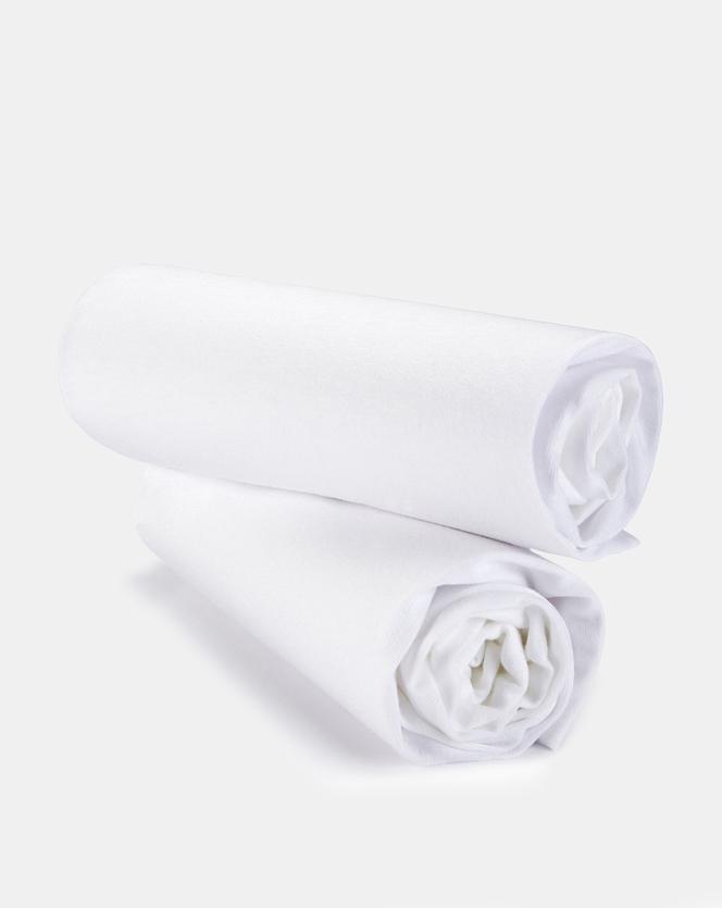 Foto Pack 2 pezzi lenzuola carrozzina con angoli in jersey bianco Prénatal