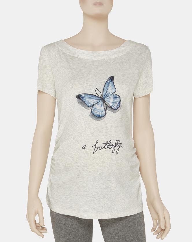 Foto T-shirt mezze maniche Butterfly Prénatal