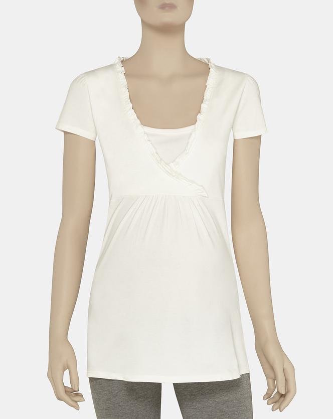 Foto T-shirt mezze maniche con rouches Prénatal