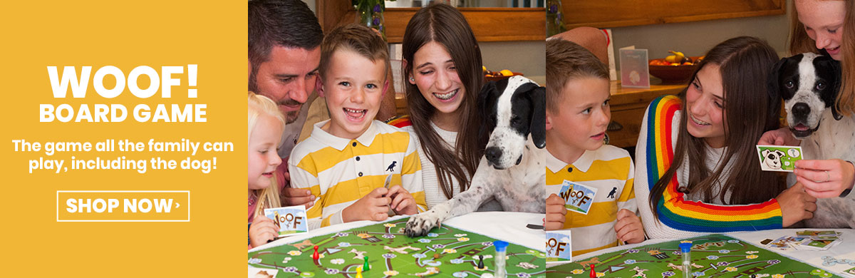 Woof Board Game - The Game Where The Dog Plays Too!