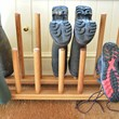 Handmade Oak Family Welly Boot Rack