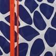 Graphic print border scarf - navy