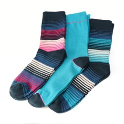 Men's triple stripe mix sock box