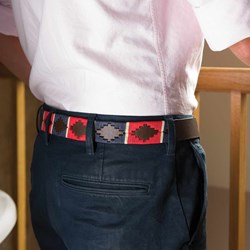 Leather Polo Belt - Red Design