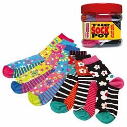 Pot of Funky Odd Socks