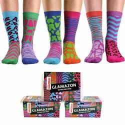 Glamazon - Animal Print Odd Socks
