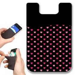 Pink Hearts Smartphone Card Wallet