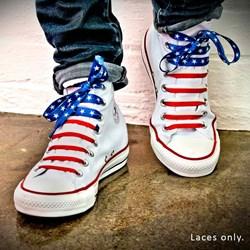 USA Stars & Stripes Crazy Laces