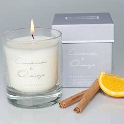 Warm Cinnamon & Orange Scented Candle