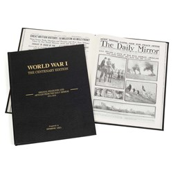 Personalised WWI Centenary Newspaper Book   with 32 Photos