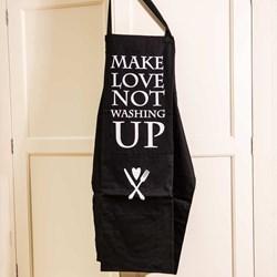 'Make Love Not Washing Up' Cotton Apron
