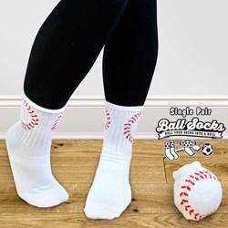 Pair of Baseball Style Socks - Ball Socks