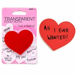 Transparent Heart Shaped Sticky Notes