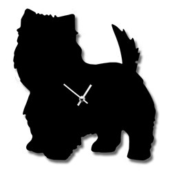 West Highland Terrier (Westie) Clock with Wagging Tail