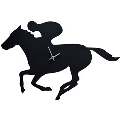 Racehorse Clock with Moving Tail