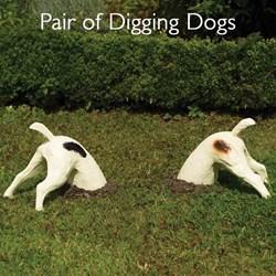 Pair of Digging Dog Ornaments     The Original Digger the Dog