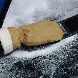Suede Ice Scraper Mitt   Get Ready for Winter