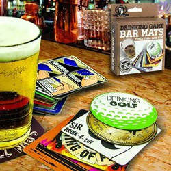 Drinking Game Beer Mats | Each mat is a drinking game!