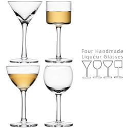 Assorted Lulu Liqueur Glasses - Set of Four   LSA Liqueur Glasses